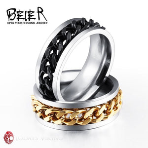 Beier Unisex Braided Split Chain Wedding Ring