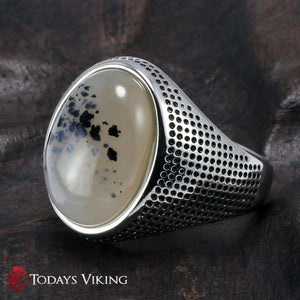 Genuine Solid 925 Sterling Silver Stone Ring