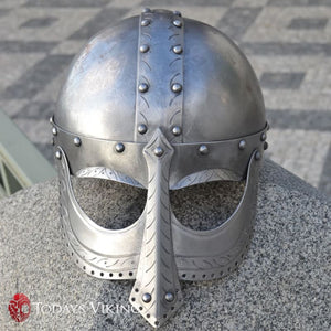Hand Made Viking Helmet with Face Plate