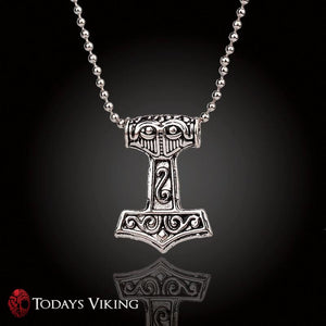 Nordic Mythical Thors Hammer Pendant Necklace