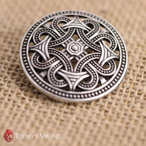Nordic Wrapped Iron Talisman Brooch