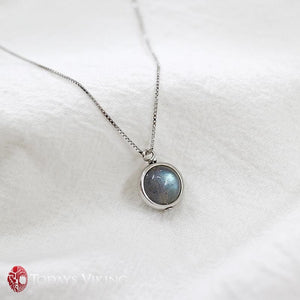 Pure 925 Sterling Silver Labradorite Pendant Necklace