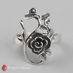 Pure 925 Sterling Silver Rose Flowers Ring
