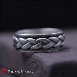 Real 925 Sterling Silver Rotating Knot Ring