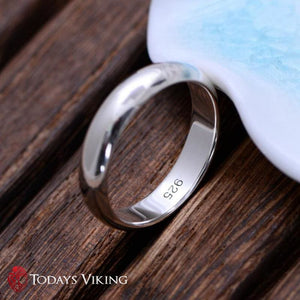 Real Pure 925 Sterling Silver Wedding Ring