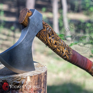The Etched Baltoslavic Viking Scroll Axe