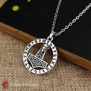 Thors Hammer Mjolnir Norse Viking Necklace