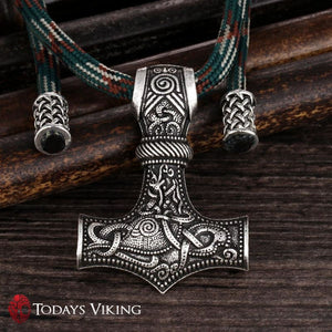 Thors Hammer Parachord Chain Necklace