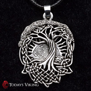 Vintage Viking Amulet Tree Of Life Pendant