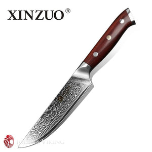 Xinzuo 5 Rosewood Handle Damascus Kitchen Knife