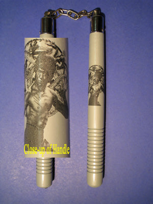 "Nunchaku: Gray Grip 12"" Chuck Commemorative Bruce Lee"