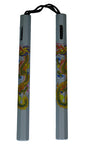"Nunchaku: Gray Cord 12"" Chuck w/ Colored Dragon"