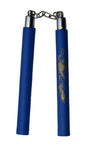 "Nunchaku Blue Rubber BB 12"" Chuck w/ Gold Dragon"