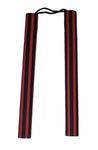 "Nunchaku Black & Red Striped Rubber 12"" Chuck"