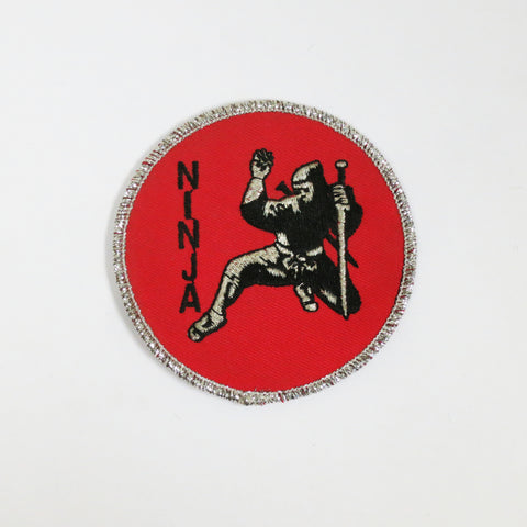 "Ninja Patch - 3"" - Embroidery Style - Cotton"
