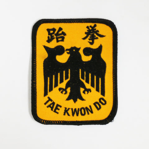 Tae Kwon Do Eagle Patch - Black/Gold - Embroidery Style - Cotton