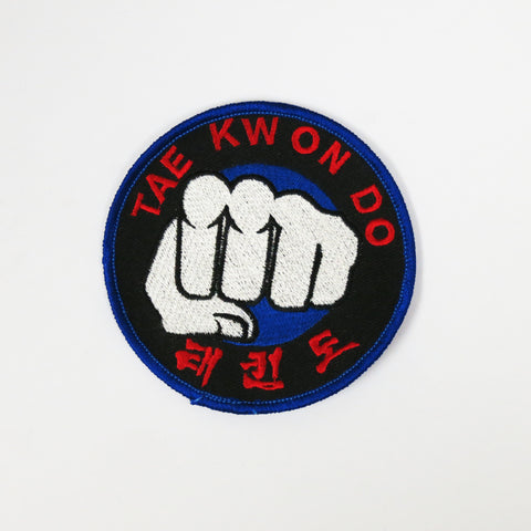 Tae Kwon Do Fist Patch - Black - Embroidery Style - Cotton