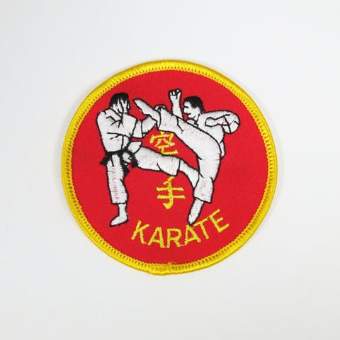 "Karate Kumite Patch 3"" - Embroidery Style - Cotton"