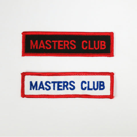 Masters Club Patch - Embroidery Style - Cotton