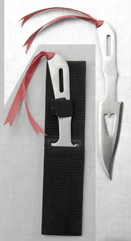 Hollow Heart Throwing Knives 6.5""