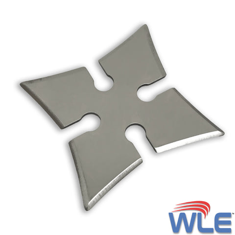"4-Point Stainless Steel Throwing Star 2.75"" - Sharp - with Carrying Case"
