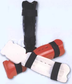 Martial Arts Sparring Shin / Instep Guards - Dipped Foam