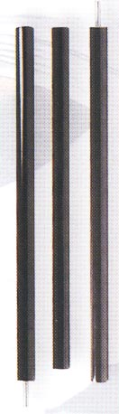 3 Piece Graphite Straight Bo Staff