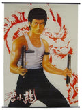 Bruce Lee Silk Screen Scroll 8127