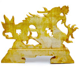 Chinese Hand Carved Wood Dragon Display