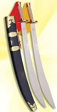 Spring Steel Double Broadswords Long Chuan