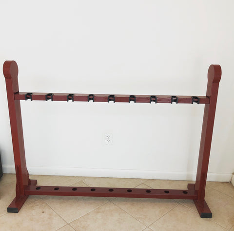 Iron Chinese Long Weapon Display Rack Stand
