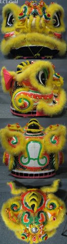 Gold Southern Lion Dance Head