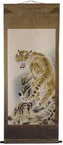 "Tiger Scroll (Up) - Hand Painted 73"" x 28"""
