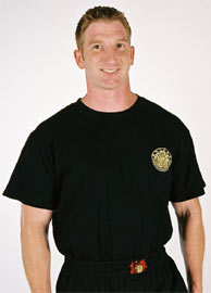 Instructor Black T-shirts with Golden Embroidery