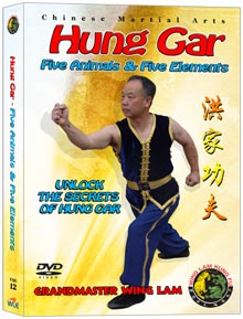 (Hung Gar DVD #12) Five Animals and Five Elements by Sifu Wing Lam