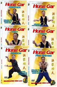 (Hung Gar DVD #11, 13, 14, 25, 26, 39) Five Animals Hung Gar Series by Sifu Wing Lam