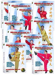 (Shaolin DVD #03, 06, 07, 12-17) Ten Hand Sets of Shaolin