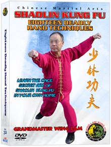(Shaolin DVD #32) Eighteen Deadly Hand Techniques Chinese Traditional Shaolin Kung Fu