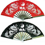 Twin Dragon Ying Yang Kung Fu Fighting Steel Fan