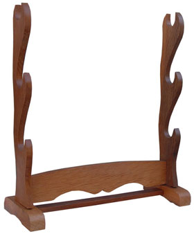 Triple Sword Display Stand – Natural Finish