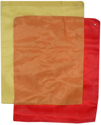 Kung Fu Weapon Flags-Large | Red/Yellow