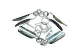 Traditional Three Section Staff Metal Ring Swivel