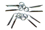 Three Section Staff Metal Ring Swivel