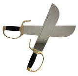 Double Butterfly Stainless Steel Swords w/ Brass Fittings