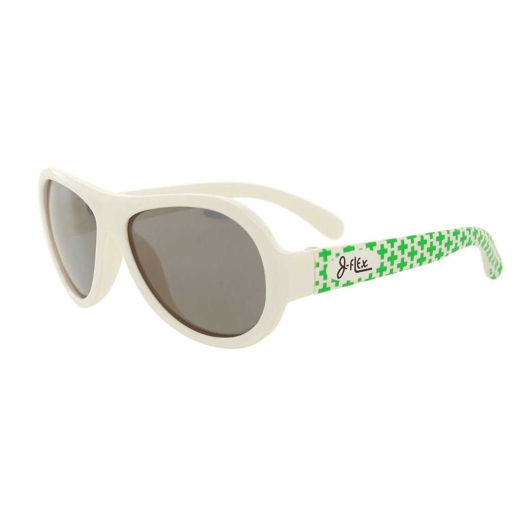 (BEST!) J-Flex Ultra Flexible Kids Sunglasses in Marshmallow White