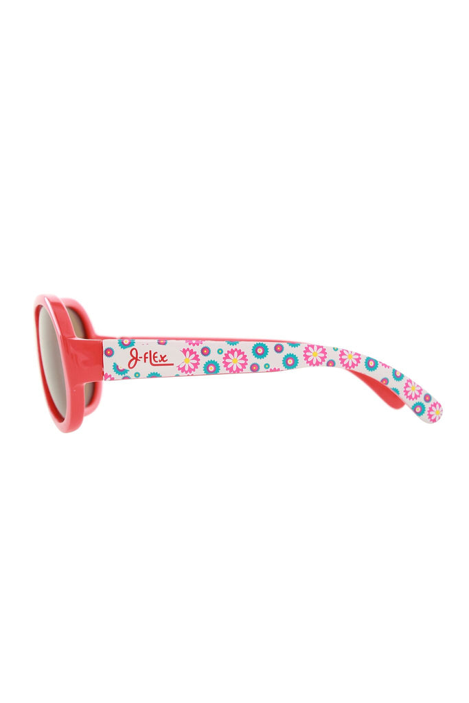 (BEST!) J-Flex Ultra Flexible Kids Sunglasses in Floral Red