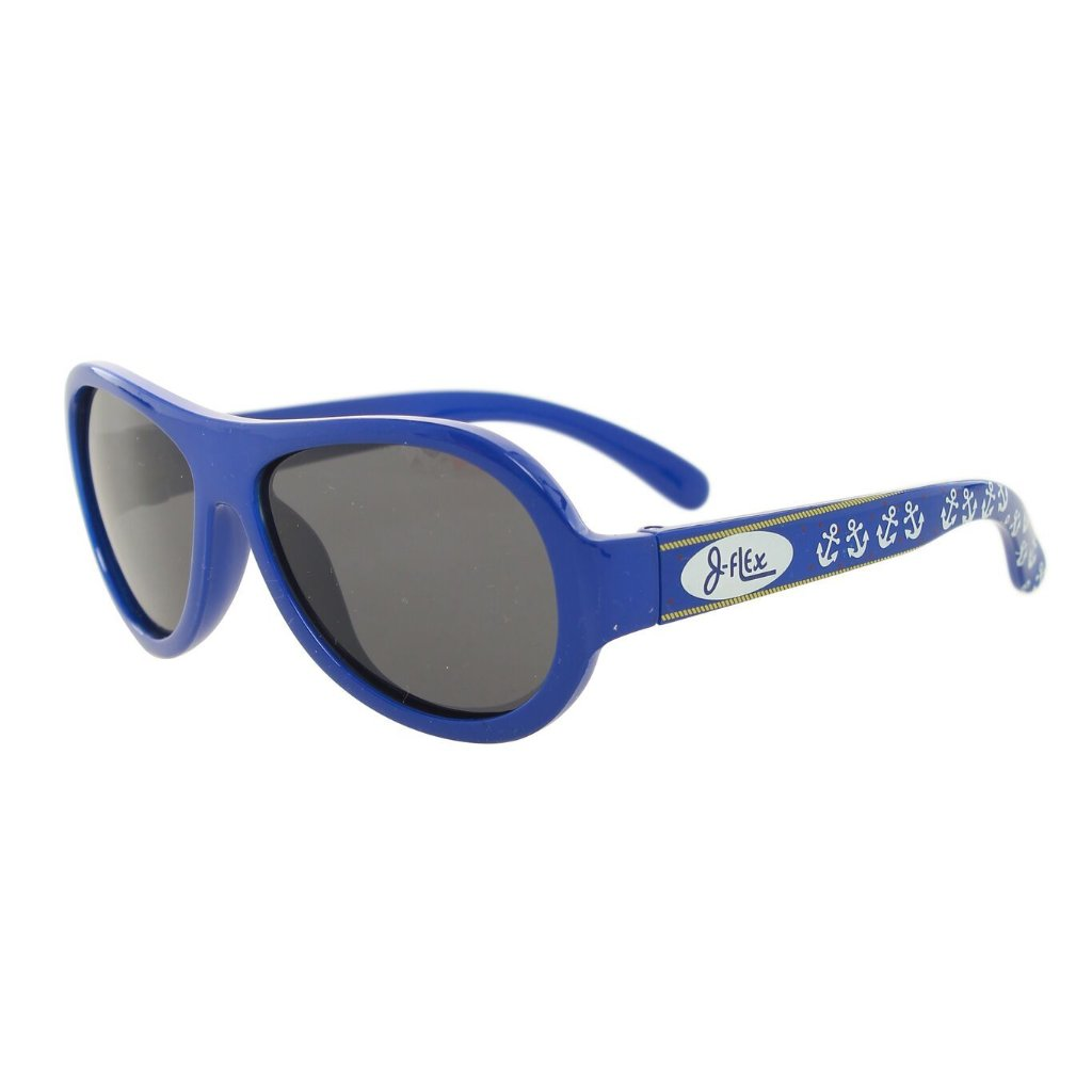 (BEST!) J-Flex Ultra Flexible Kids Sunglasses in Nautical Blue