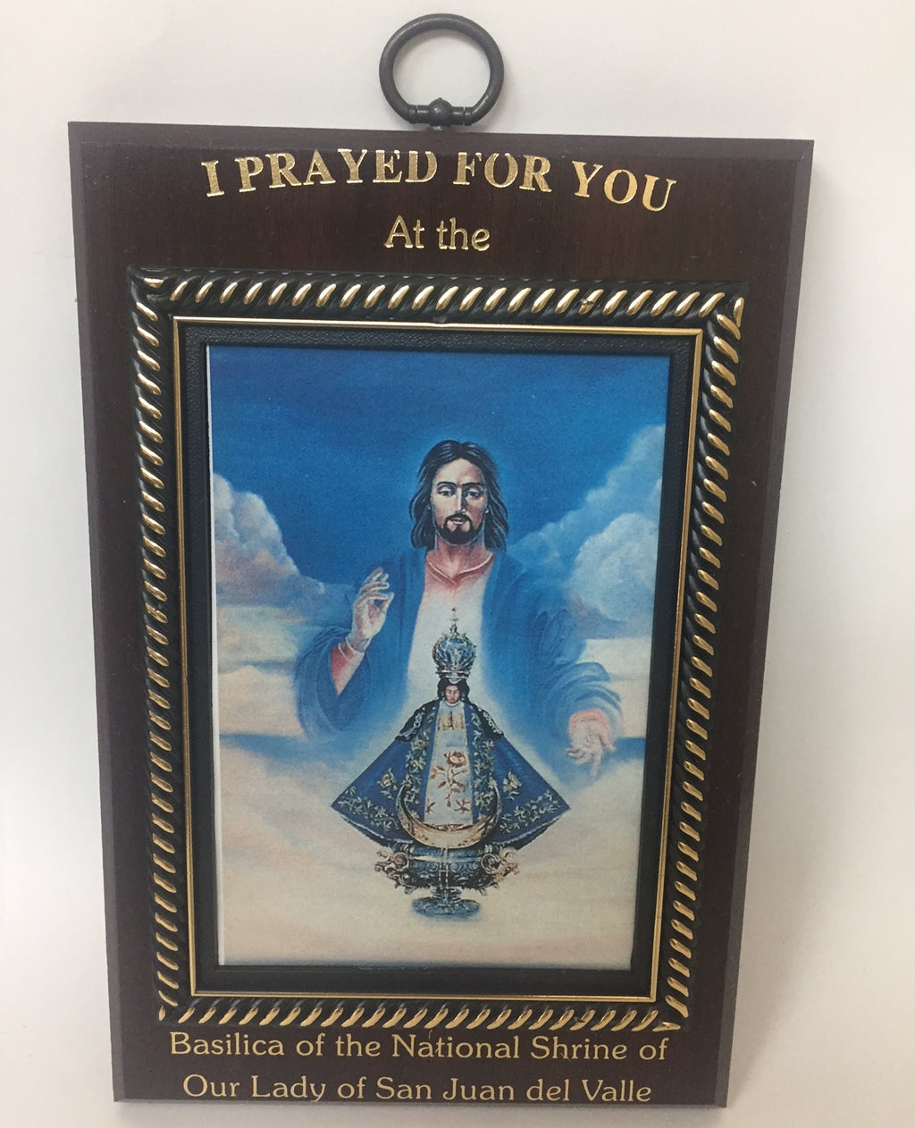 """ I Prayed"" Wall Frame"