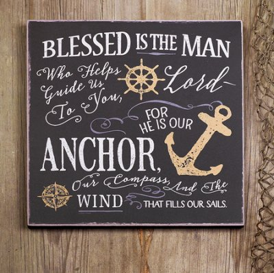 """Blessed is the Man"" Wall Plaque"