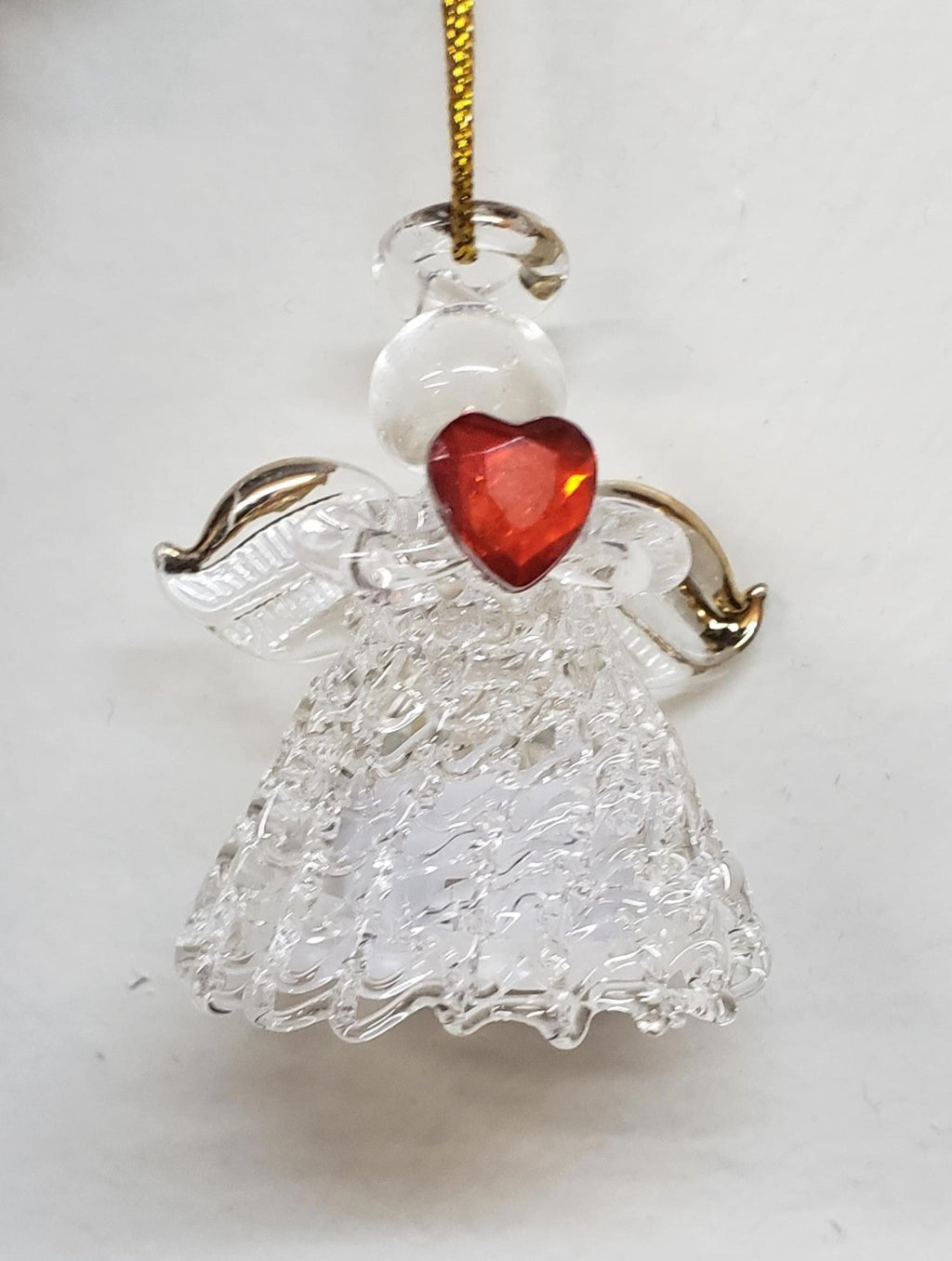 LED Glass Angel Ornament